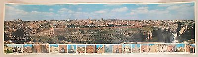 Jerusalem Jean Chavoushian Vintage Panoramic Aerial View Travel Poster
