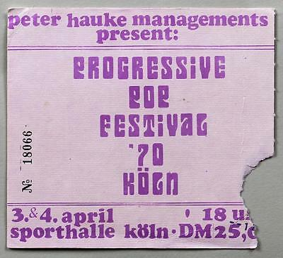DEEP PURPLE Yes T REX - mega rare vintage original Cologne 1970 concert ticket