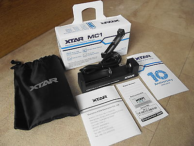 XTAR MC1 Battery Charger 26650 18650 18350 14500 IMR Li-ion USB / Mains