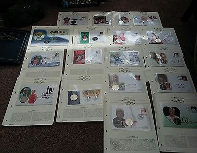 Album Full Of 18 First Day Coin Covers Diana Princess Of Wales  Crown /coins