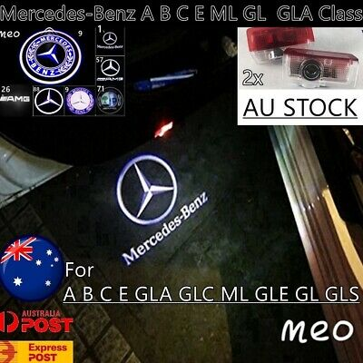 2x Mercedes Benz Car Door Welcome Logo Ghost Shadow Light LED Courtesy Laser