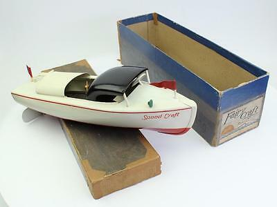 Fairy Craft Model Speed Craft speed boat toy Mint in Box Auburn 1940 celluloid