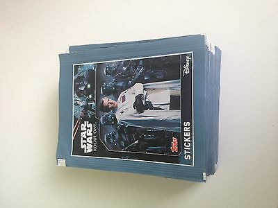 50 packs stickers STAR WARS  Rogue One unopened topps (250 stickers)