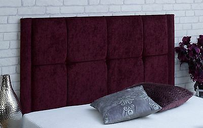 !New Quality Diamante Valencia Headboard Chenille 2FT6 3FT 4FT 4FT6 5FT!