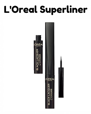 L'Oreal Paris Super Liner Black Lacquer Waterproof Eyeliner New