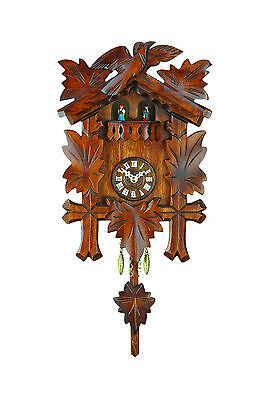 Black Forest Pendulum Clock Kuckulino, Cuckoo, Made in Germany, Spinning Dancer