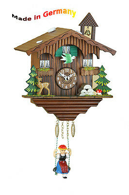 BLACK FOREST Kuckulino Swing Clock, Cuckoo,Made in Germany, Gift Idea
