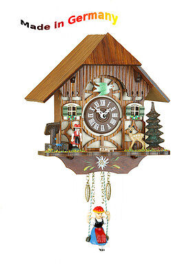 BLACK FOREST Kuckulino Swing Clock, Cuckoo, Handpainted, Made in Germany