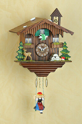 Black Forest Clock Pendulum Clock Kuckulino with Cuckoo 2001SQ