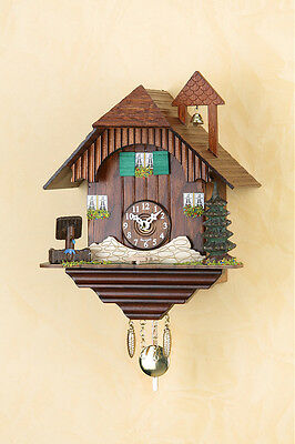 Beautiful Black Forest Clock Pendulum with Cuckoo Kuckulino Made in Germany