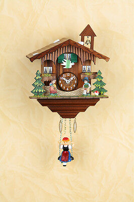 Beautiful Black Forest Pendulum Clock with Cuckoo Kuckulino Made in Germany