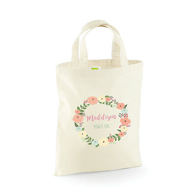 Personalised Wedding Party Bridal, Flower Girl, Bridesmaid Favour Gift Bags