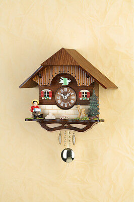 Black Forest Clock Pendulum Clock with Cuckoo Kuckulino Made in Germany 2040PQ
