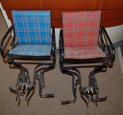 vtg child's bicycle attachment set 2 iron antitique baby bike seat England
