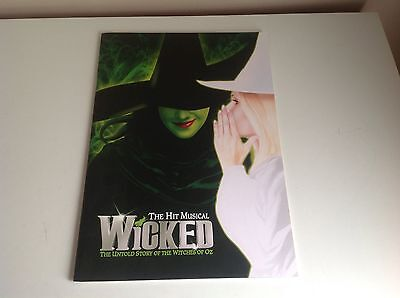 Wicked The Musical Theatre Souvenir Programme Brochure