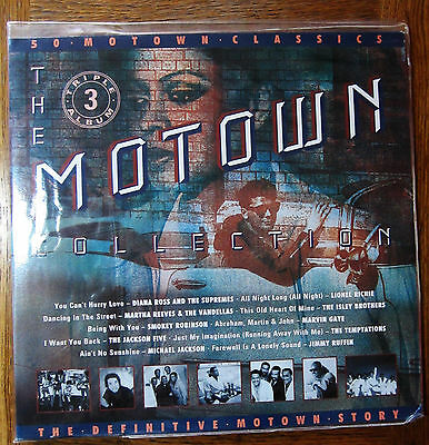 The Motown Collection Triple Vinyl LP Record Collection - 50 Hits