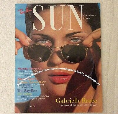"Vintage Ray Ban Sunglasses by Bausch & Lomb 1994 First Edition ""Sun"" Magazine"