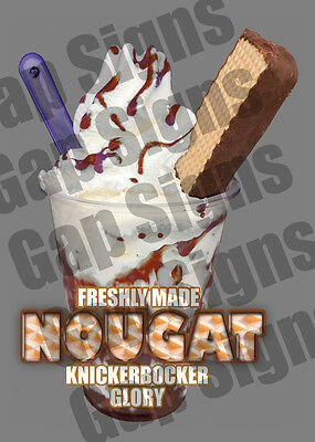 ICE CREAM VAN STICKER NOUGHT KGB SUNDAE CATERING SHOP WITH//WITHOUT FLAKE