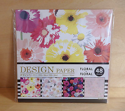 Japanese Origami  Folding Paper Cute Floral Chiyogami  48 Sheets