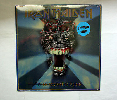IRON MAIDEN The World 2008 VERY RARE DOUBLE LIVE SEALED LP
