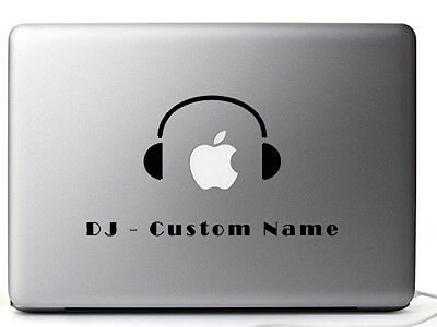 Laptop Macbook mac DJ music cover decal vinyl stickers custom personalized names
