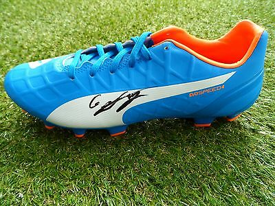 Georgi Kinkladze Hand Signed Puma Football Boot - Manchester City Autograph  COA