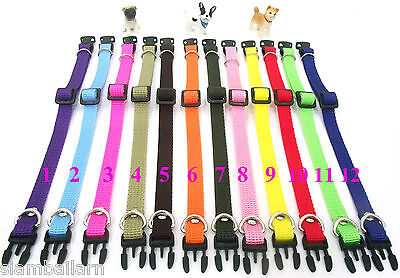Nylon ID Whelping Newborn Collar Little Puppy Pet Dog Adjustable Collars Cat