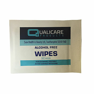 Qualicare First Aid Sterile 100% Alcohol Free Skin Safe Wound Cleaning Wipes