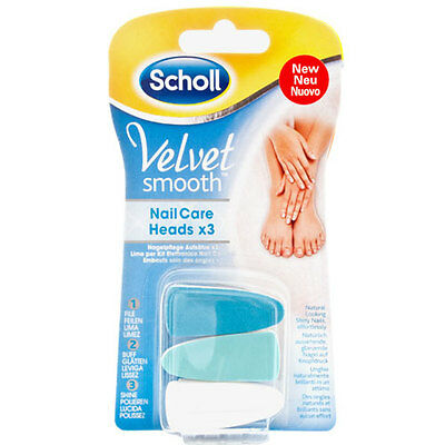 Dr.Scholl Velvet Smooth kit elettronico nail care ricambi 3pz