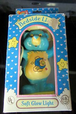 Vintage Care Bears Bedtime Bear Night Light Lamp w/ Original Box