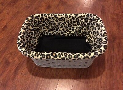 Cheetah / Leopard Puppy Laundry Basket Cover / Liner / Whelping By: CaliPups
