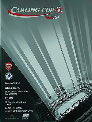 2007 Carling Cup Final Arsenal v Chelsea Mint condition
