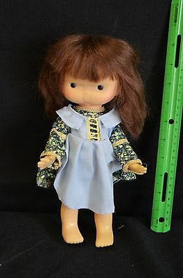 "Vintage 1975 Plastic Holly Hobbie Character Girl Doll 10"" Tall"