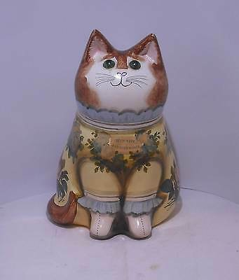 "Joan & David De Bethel Pottery Cat 1981 7"" Decoupage"