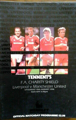 Liverpool V Man Utd 18/8/1990 Charity Shield