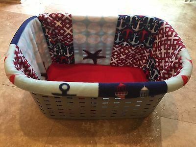 Nautical Anchors Dog Puppy Laundry Basket Cover / Liner / Whelping By: CaliPups