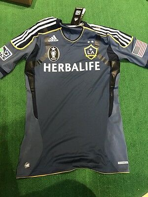 NWT LA Galaxy MLS Cup Champion authentic Adidas Formotion jersey woman (size: 8)
