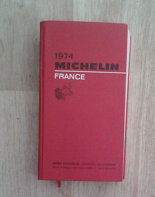 Guide rouge Michelin France 1974.