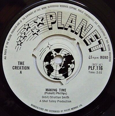 The Creation - Making Time / Try And Stop Me - 1966 PLANET (VG+)