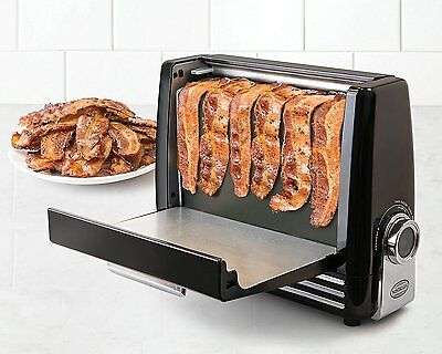 Crispy Bacon Express Grill Maker Fast Healthy Electric Drip Tray Fryer Cooker