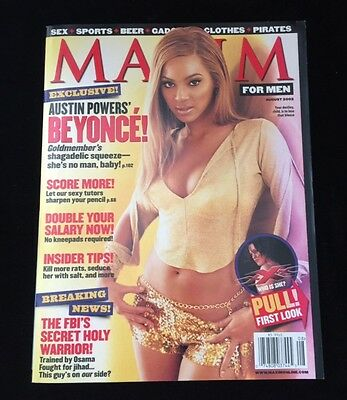 Beyonce Knowles Maxim Magazine August 2002 #56 No Mailing Label