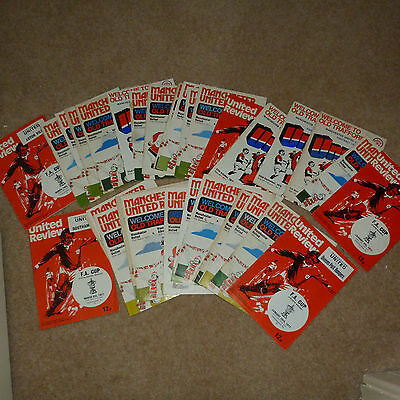 **reduced** 32 1976 - 77 Season Manchester United Home League And Cup Programmes