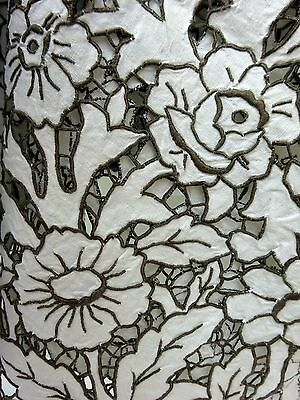 Antique Tablecloth Madeira Italian Embroidered Cutwork Handmade Linen 1900's