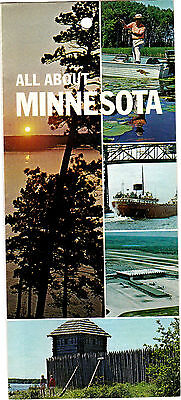 All About Minnesota 1970s vintage Travel Brochure meac10
