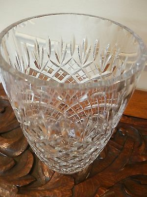 "Stunning Vintage Large Hand Cut Lead Crystal Glass Vase, 10"" high, over 2.4 kg"