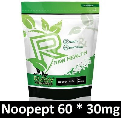 RAW Powders 60 tab x 30mg for memory and brain function