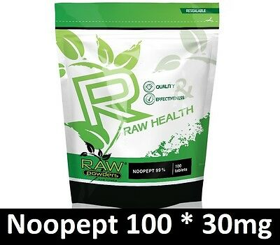 RAW Powders 100 tab x 30mg for memory and brain function