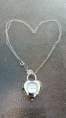 MARC By MARC JACOBS Heart Pendant Necklace Watch Valentines Jewelry Art Locket