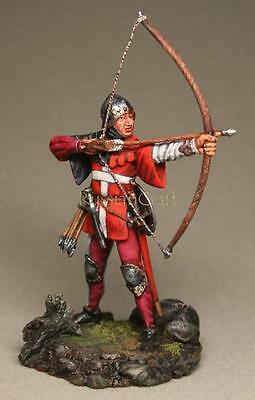 Tin Soldier, collector quality, French archer № 1, 54 mm, The Middle Ages