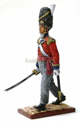 Tin Soldier, collector quality, Officer of English Grenadier Guards № 1, 54 mm
